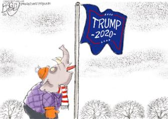 Political Cartoon U.S. GOP Trump 2020 A Christmas Story