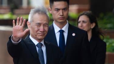 Chinese Vice Premier Liu He at U.S. trade talks