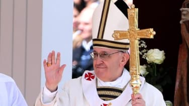 Pope Francis at his Inauguration Mass in St Peter's Square on March 19.