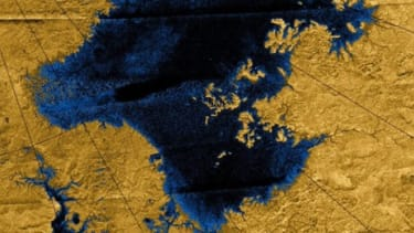 Images from NASA's 2004 Cassini mission show river networks draining into lakes in north polar region of Saturn's largest natural satellite, Titan.