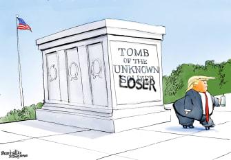 Political Cartoon U.S. Trump losers suckers military