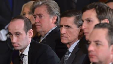 Michael Flynn with Trump advisers.
