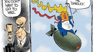 Political Cartoon U.S. Trump Syria War Airstrikes Putin Russia Assad