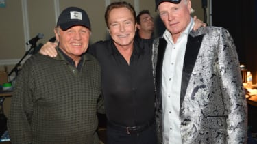 David Cassidy, center, with Bruce Johnston and Mike Love of the Beach Boys.