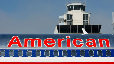 An American Airlines plane in California
