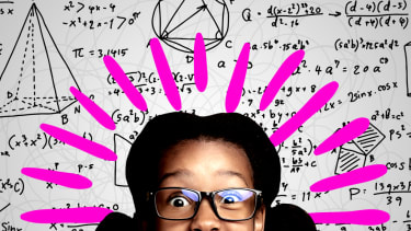 A girl and math.