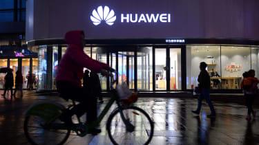 A Huawei store.