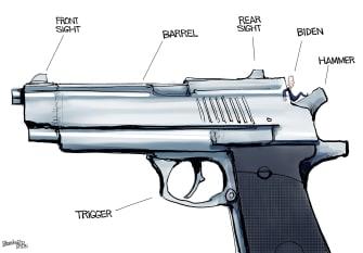 Political Cartoon U.S. biden gun control