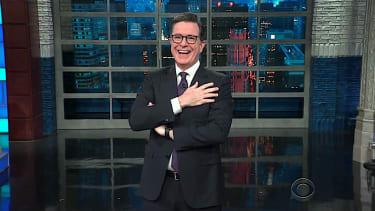 Stephen Colbert laughs at Trump tweets