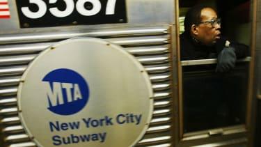 MTA New York City subway train.