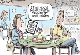 Editorial Cartoon U.S. atlanta boulder shootings