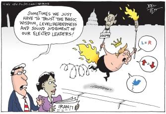Political Cartoon U.S. Trump Iran GOP enablers