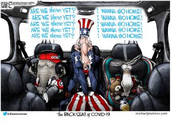 Political Cartoon U.S. democrats GOP coronavirus