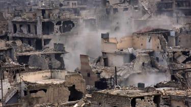 A destroyed neighborhood in eastern Aleppo.