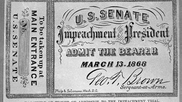 A ticket to impeachment proceedings.