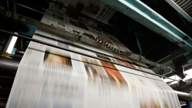 Newspapers being produced