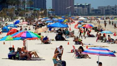 People on a Florida beach.