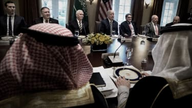 President Trump and Saudis.