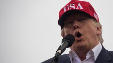 Trump speaks in Mobile, Alabama, in December 2016.