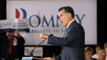 Mitt Romney delivers a victory speech in Novi, Mich.: Romney won a narrow victory Tuesday night in the state where he was born and raised.
