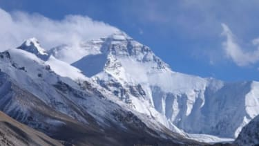 Mount Everest, located in the Himalayas on the Nepal-China border, is the world's highest mountain.