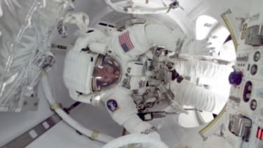 An astronaut on the International Space Station: While stays aboard the ISS are capped at six months, such long space travel can do permanent damage to cosmonauts.