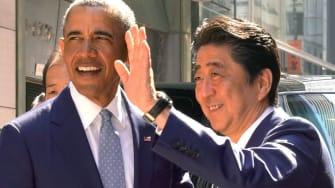 Former President Obama with Japanese Prime Minister Shinzo Abe