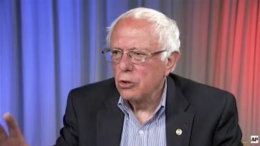 Bernie Sanders talks to The Associated Press