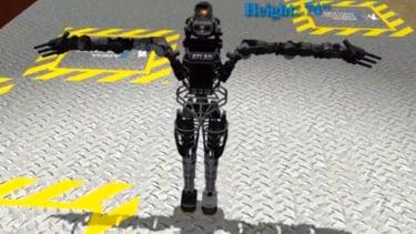Atlas' 28 hydraulic joints make him one nimble robot.