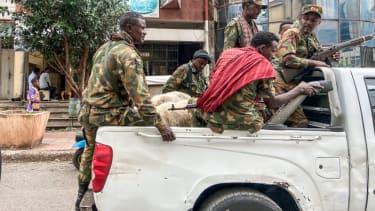 Militia members in northern Ethiopia.