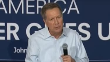 Kasich faces a confused voter.