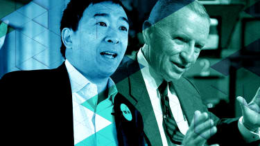 Andrew Yang and Ross Perot.