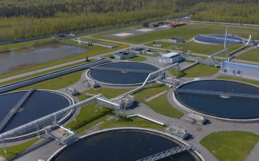 Wastewater treatment plant.