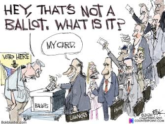 Editorial Cartoon U.S. 2020 vote lawyers