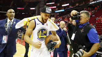 Stephen Curry after the Warriors make it to fourth straight NBA Finals