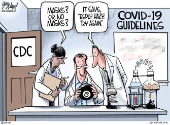 Editorial Cartoon U.S. CDC masks coronavirus