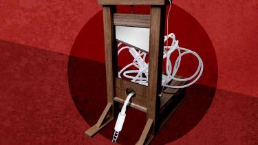A guillotine.
