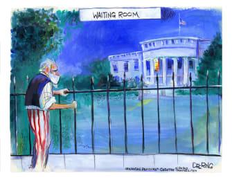 Editorial Cartoon U.S. Trump White House COVID