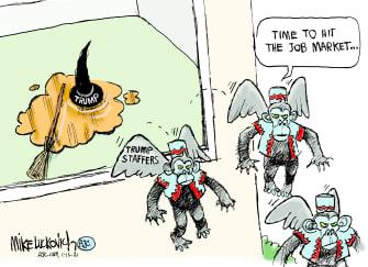 Political Cartoon U.S. Trump cabinet