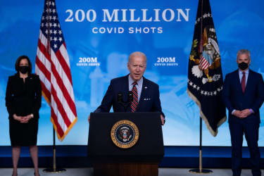 Biden touts vaccinations