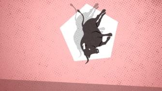 A falling bull.