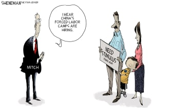 Political Cartoon U.S. McConnell COVID stimulus