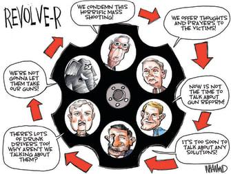 Political Cartoon U.S. gop gun control