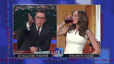 "Stephen Colbert interviews ""Melania Trump"""