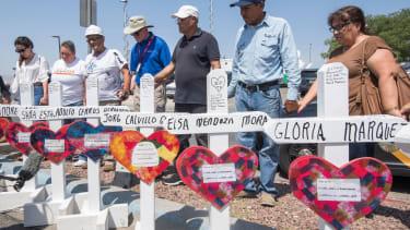 Memorial to El Paso shooting victims.