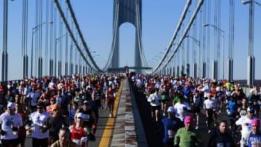 Runners in the 2010 New York City Marathon