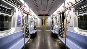 A subway car.