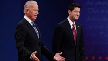 Vice President Joe Biden and Rep. Paul Ryan (R-Wis.) at their Oct. 11 debate in Kentucky.