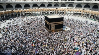 The Kaaba in Mecca.