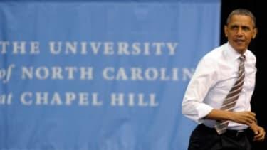 President Obama visits the University of Chapel Hill April 24